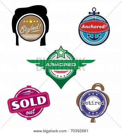 Themed Vector Badges