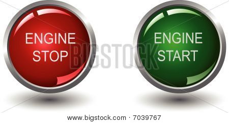Engine stop and start web buttons
