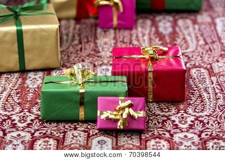 Three Presents Standing Out