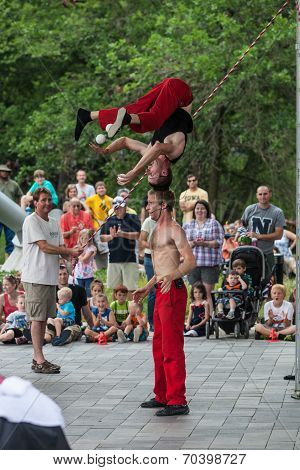 Acrobats At Iowa State Fair
