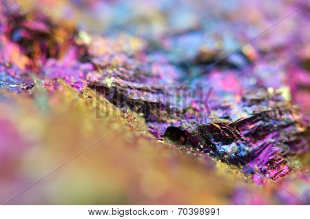 Abstract Background From A Metal Mineral. Rather Unique Macro Photo