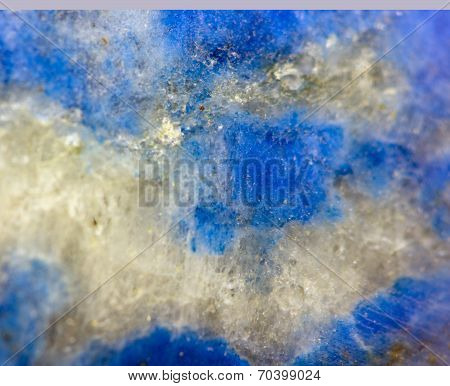 Abstract Background From Blue  Crystal Mineral. Rather Unique Macro Photo, For Your Successful Busin