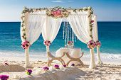 picture of cabana  - beach wedding set up - JPG