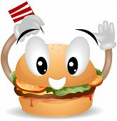 picture of vacuum pump  - An Illustration of a Happy Hamburger with Clipping Path - JPG