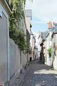 image of anjou  - Rue Saint Aignan medieval narrow street in Angers France - JPG