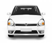 picture of studio shots  - Studio Shot of Front View of White Car - JPG