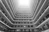 pic of public housing  - Old public residential building in Hong Kong - JPG