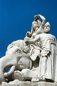 pic of kensington  - Closeup of stone statues at the Albert Memorial in Kensington Gardens - JPG