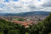 image of basque country  - Panorama on the center of Bilbao Basque country Spain - JPG