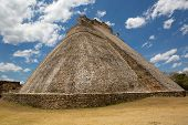 pic of yucatan  - rounded edge Mayan pyramid at Uxmal Yucatan Mexico - JPG