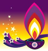 foto of kolam  - Indian new year diwali candle light illustration - JPG