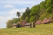 foto of revolutionary war  - Reproductions of cabins used by Revolutionary War soldiers during the brutal winter of 1777 - JPG