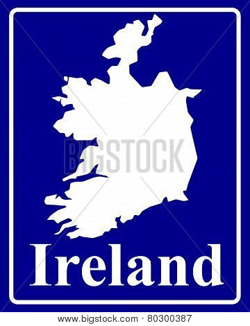 Silhouette Map Of Ireland