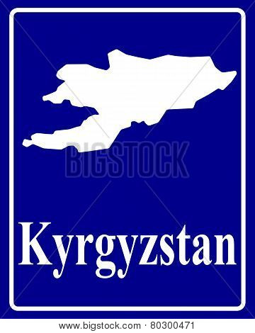 Silhouette Map Of Kyrgyzstan