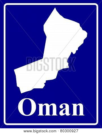 Silhouette Map Of Oman