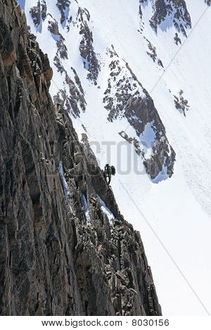 Climber On A Route