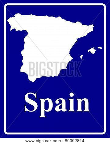 Silhouette Map Of Spain