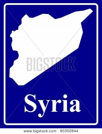 Silhouette Map Of Syria