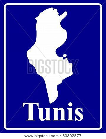 Silhouette Map Of Tunis