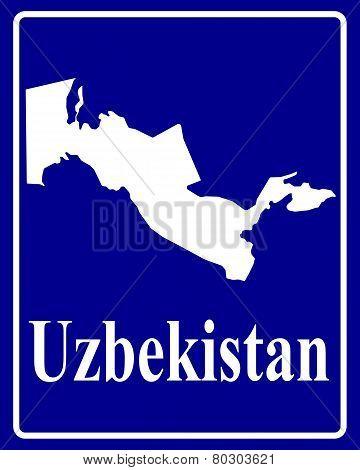 Silhouette Map Of Uzbekistan