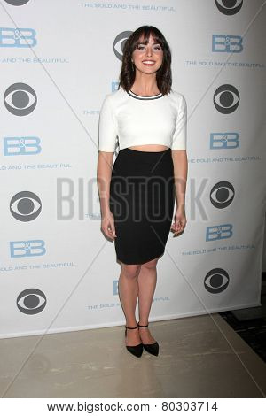 LOS ANGELES - JAN 14:  Ashleigh Brewer as the  Bold and Beautiful Celebrates 7000th Show at a CBS Television City on January 14, 2015 in Los Angeles, CA