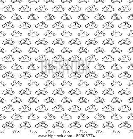 seamless pattern with fried chicken