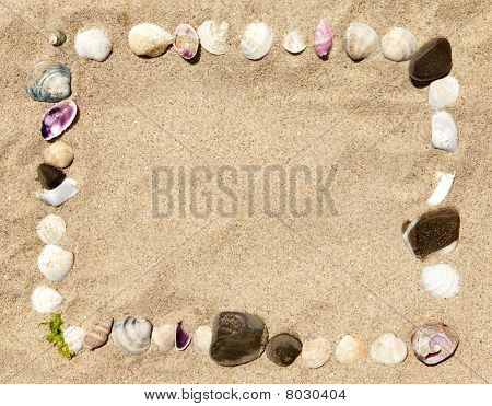 Sea Shells And Stones Frame