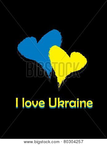 card i love Ukraine