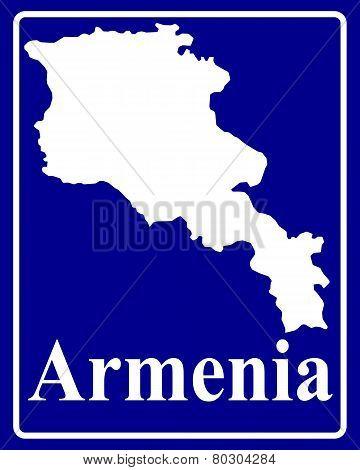 Silhouette Map Of Armenia
