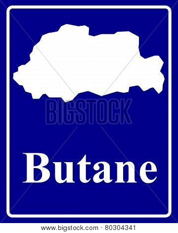 Silhouette Map Of Butane