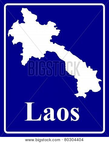 Silhouette Map Of Laos