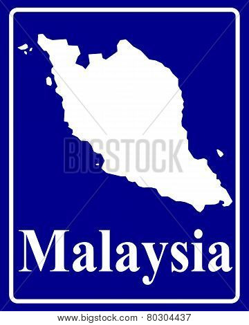Silhouette Map Of Malaysia