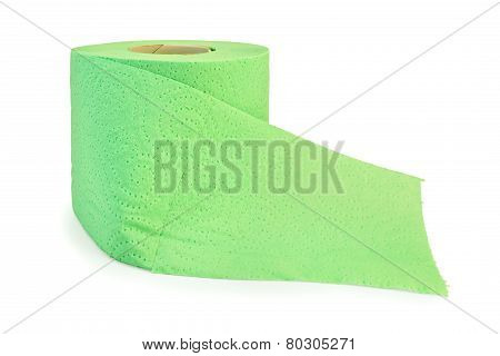 Toilet paper green with perforation