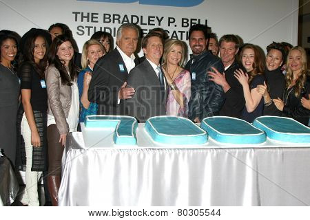 LOS ANGELES - JAN 14:  Bold and Beautiful Cast, Bradley P. Bell as the  Bold and Beautiful Celebrates 7000th Show at a CBS Television City on January 14, 2015 in Los Angeles, CA