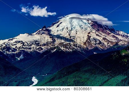 View of Mount Rainier in Washington