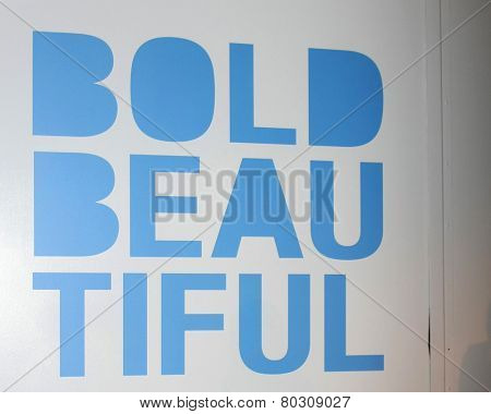 LOS ANGELES - JAN 14:  Bold and Beautiful Emblem as the  Bold and Beautiful Celebrates 7000th Show at a CBS Television City on January 14, 2015 in Los Angeles, CA