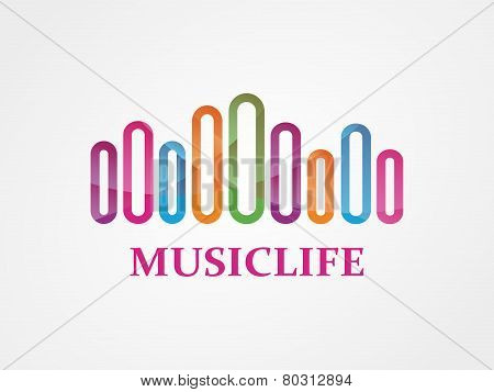 Vector music logo