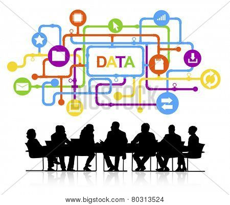 Data Information Big Data Business Meeting Concept