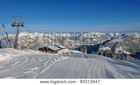 Ski Lift On The Wispile,