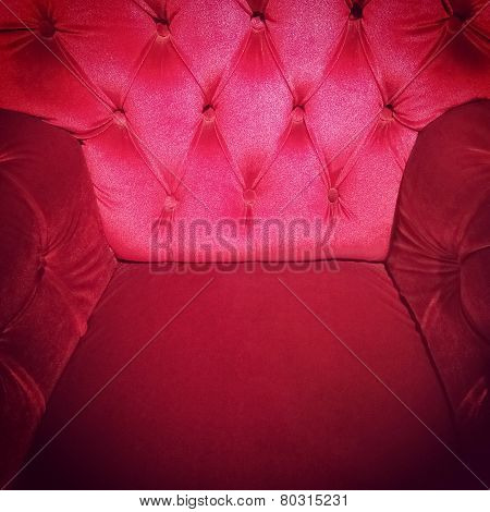 Luxurious Red Armchair