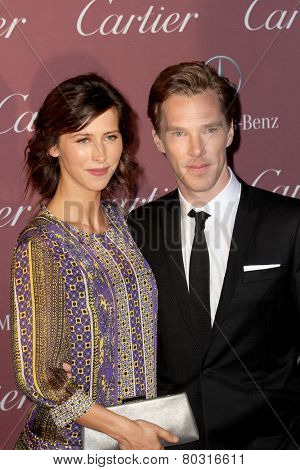 PALM SPRINGS, CA - JAN 3: Sophie Hunter, Benedict Cumberbatch arrive at the 2015 Palm Springs Film Festival Awards Gala at the Palm Springs Convention Center on January 3, 2015 in Palm Springs, CA.