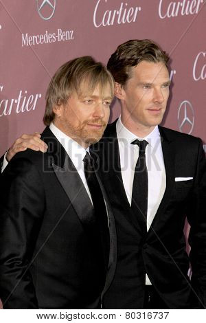 PALM SPRINGS, CA - JAN 3:Morten Tyldum and Benedict Cumberbatch arrives at the 2015 Palm Springs Film Festival Awards Gala at the Palm Springs Convention Center on January 3, 2015 in Palm Springs, CA.