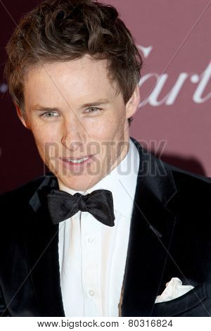 PALM SPRINGS, CA - JAN 3: Eddie Redmayne arrives at the 2015 Palm Springs International Film Festival Awards Gala at the Palm Springs Convention Center on January 3, 2015 in Palm Springs, CA.