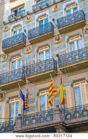 Facade of a house in Barcelona