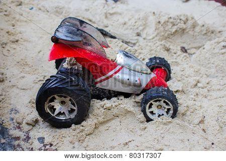 Machine Boy In Sand