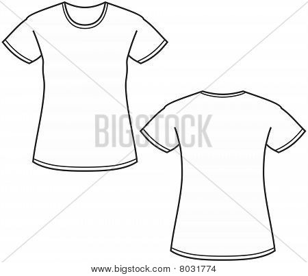 Women's t-shirt illustration