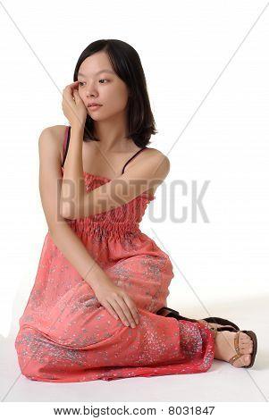 Sentarse Pose de mujer