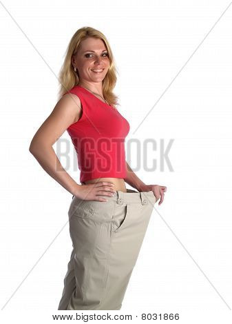 Girl In Big Pants