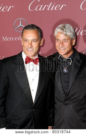 PALM SPRINGS, CA - JAN 3: Johnny Chaillot and Greg Louganis arrive at the 2015 Palm Springs Film Festival Awards Gala at the Palm Springs Convention Center on January 3, 2015 in Palm Springs, CA.