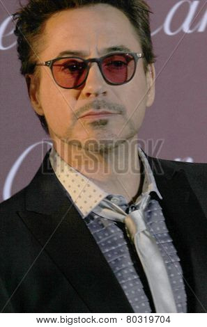 PALM SPRINGS, CA - JAN 3: Robert Downey Jr. arrives at the 2015 Palm Springs International Film Festival Awards Gala at the Palm Springs Convention Center on January 3, 2015 in Palm Springs, CA.